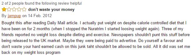 Nuratrim_UK_User Amazon Reviews