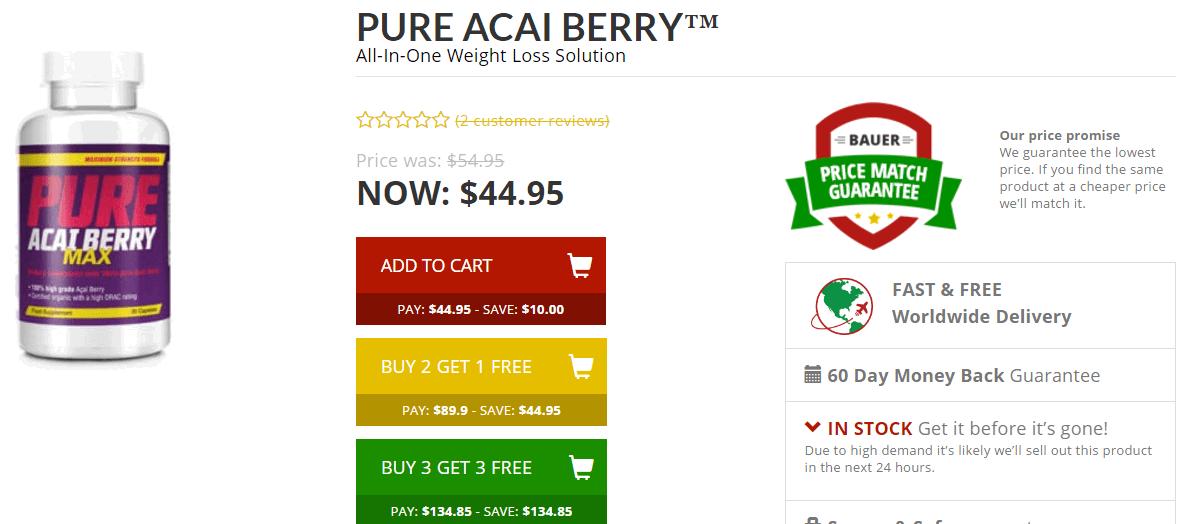 where to buy pure acai berry max
