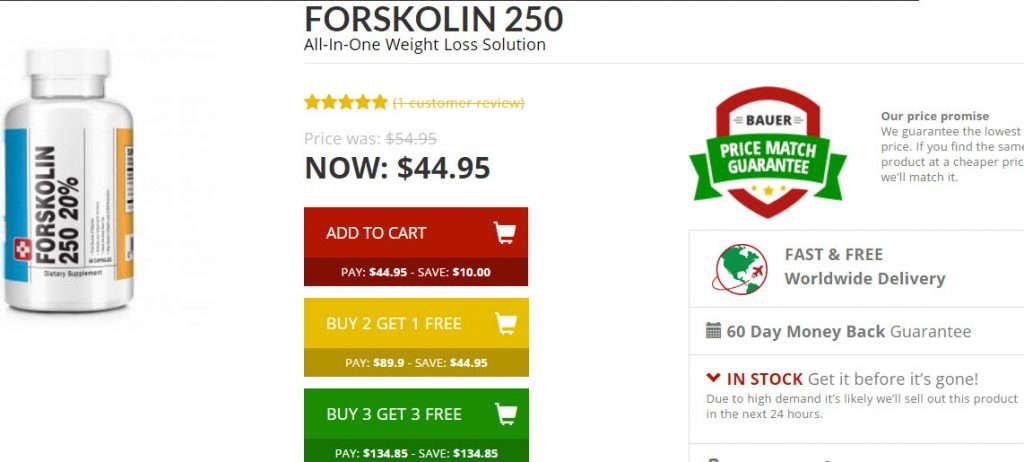 Buy Forskolin 250