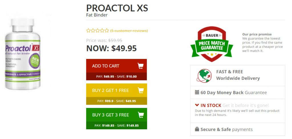 Buy Proactol xs Best Fat Binder Online