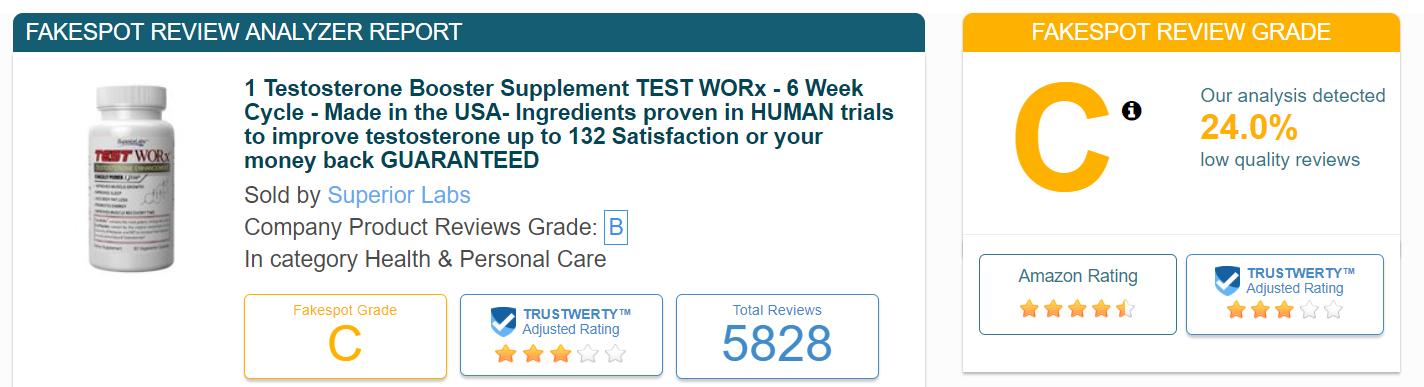 Test Worx Fake Reviews