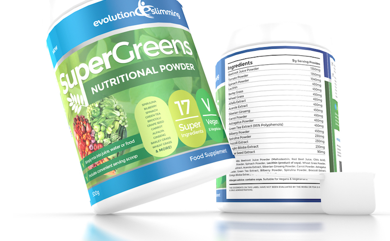 Evolution slimming super greens powder